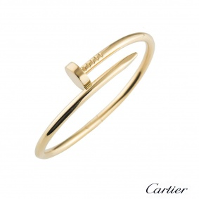 Cartier Yellow Gold Plain Juste Un Clou Bracelet Size 17 B6048217